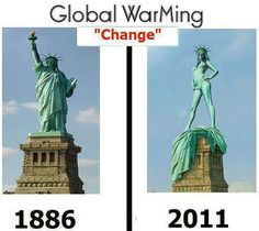 Americans are known for being highly skeptical about climate change. But they should look no further than the Statue of Liberty to see the devastatingly harmful effects of global warming. Funny English Jokes, Very Funny Jokes, Funny Stuff, Funny Things, Hilarious Jokes, Weird Things, It's Funny, Random Things, Brazil