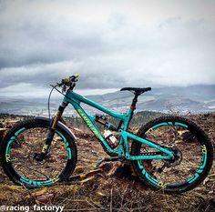LOVE the color - Santa Cruz Nomad with FOX suspension and Enve parts