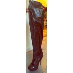 I just discovered this while shopping on Poshmark: Thigh High Mix Media Boots. Check it out!  Size: 6.5