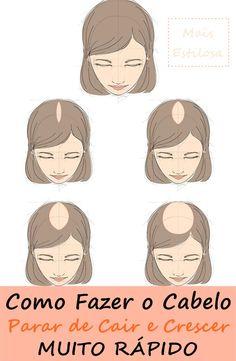 Como fazer o cabelo parar de cair e crescer muito rápido!