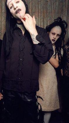 Marilyn Manson and Iggy Pop<<<Erm... That's Twiggy Ramirez lol.