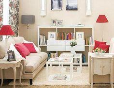 Sala decorada com enfeites simples