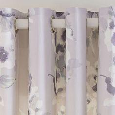 Mauve Delphine Thermal Eyelet Curtains | Dunelm