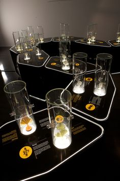 modular scent-stations. | By the Nose! exhibition by VOL2 DESIGN