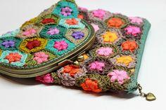 Crochet etui. Crochet wallet. Beautiful colors.