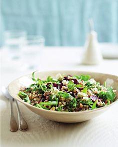 Roasted beet, buckwheat & goat's cheese salad