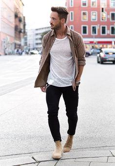 menstylica — Daniel with his Chelsea boots