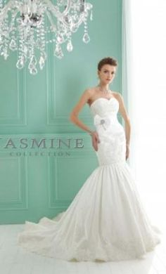 New With Tags Jasmine Wedding Dress F141013, Size 8  | Get a designer gown for (much!) less on PreOwnedWeddingDresses.com