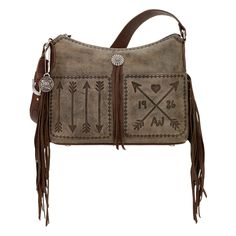 American West Cross My Heart bag. Pay as little as $25/month. See our website for details! #westernpurse  #westernfashion #fashionista #fringepurse  #handcraftedleatherhandbags