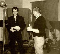 """Elvis during """"Harum Scarum"""" recordings February, 1965, RCA Studio B, Nashville."""