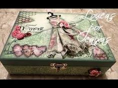 Resultado de imagen de caixa decorada con servilletas