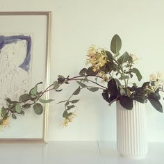 Johannes Holt-Iversen, Ink Study and Vase by Lyngby Interior Decorating, Study, Paintings, Vase, Ink, Simple, Creative, Plants, Instagram