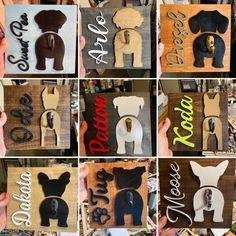 Dog Leash Holder, Golden Retriever, Dog Crafts, Dog Daycare, Stain Colors, Halloween Gifts, Dog Names, Wall Hanger, Pet Shop