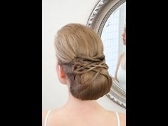 Wedding hair video - smooth lowdo with twists