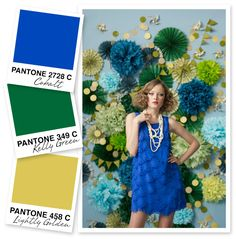 Blue, Green and Gold Color Palette
