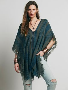 Free People Weave Lightweight Poncho, $68.00