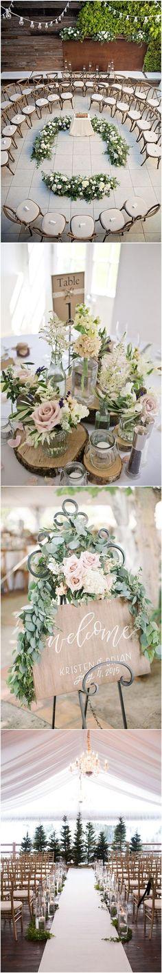Green Wedding   Rustic Wedding Country Weddings » 25 Rustic Outdoor Wedding Ceremony Decorations Ideas » ❤️ See more: http://www.weddinginclude.com/2017/06/rustic-outdoor-wedding-ceremony-decorations-ideas/