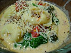 The Sisters Dish: Crock Pot Cheese Tortellini Soup
