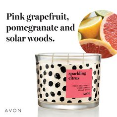 Sparkling Citrus Candle Back by popular demand! Uplift your home with the vibrant, energizing fragrance and bold design of our Sparkling Citrus Candle. Chi Hair Products, Avon Products, Hair Essentials, The Face Shop, 3 Wick Candles, Green Goddess, Avon Representative, Pink Grapefruit, Facial Oil