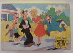 Vintage Blondie and Dagwood Jigsaw Puzzle - 60 pieces - Age 5 and up - Made in USA by Jaymar Penny Singleton, Blondie And Dagwood, Blondies, I Shop, Jigsaw Puzzles, Children, How To Make, Fictional Characters, Vintage