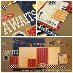 CTMH Tommy Layouts for your summer photos!  Nautical and patriotic, this kit is perfect for your summer vacation, 4th of July or summer adventure photos!  Go to www.scrapwithsue.blogspot.com to order.