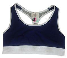 2a1c0c0716b425 Victoria s Secret PINK logo Racerback Bra Top Bralette Large at Amazon  Women s Clothing store