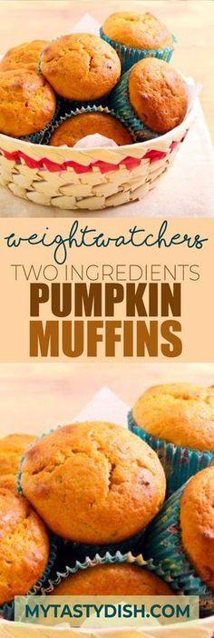 5 weight watchers Smart Points - Two Ingredients Pumpkin Muffins