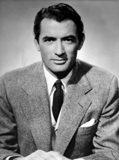 Style icon Gregory Peck