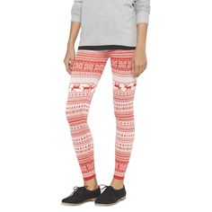 Christmas Sweater Print Leggings