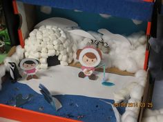 Southeast Polk Community School District - Dioramas Help Students Learn About Habitats Fun Projects For Kids, Winter Crafts For Kids, Winter Kids, School Projects, Shoe Box Diorama, Arctic Habitat, Ice Crafts, Ecosystems Projects, Polo Norte
