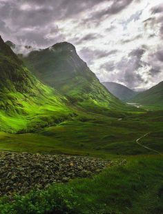 Glencoe, Highland, Scotland. I have backpacked in the Glencoe area and it is beautiful beyond mere words and is rich in history.