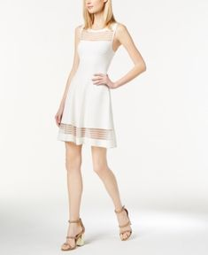 French Connection Illusion Fit  amp  Flare Dress - White 10 White Dresses  For Women 2315355fb