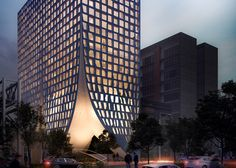 Architecture studio MAPmx has unveiled its design for an office tower in Mexico City, featuring huge concrete walls that appear to have been pulled apart and windows that look squashed.