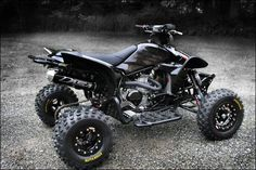 Custom honda trx450r with dasa exhaust