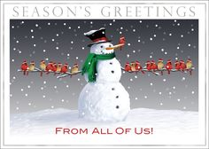 Friendly Frosty Snowman Holiday Cards https://partyblock.holidaycardwebsite.com/holiday/business-holiday-cards/NN6638 more here http://www.snowmangreetingcards.com