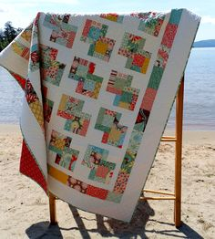 Quilt Pattern -  Danish Delights Layer Cake Quilt Pattern 3 Sizes Quick, Easy -  PDF Version hard copy also avaiable. $9.00, via Etsy.