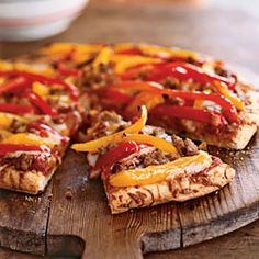 Turkey Sausage & Pepper Pizza: Also do a variation with turkey pepperoni.