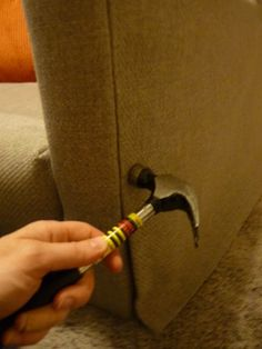 How To Reupholster a Couch | Easy Home Makeover Tutorial by Pioneer Settler at http://pioneersettler.com/how-to-reupholster-a-couch/                                                                                                                                                                                 More