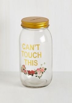 Your rainy day fund looks super fab inside of this glass savings jar! No ' needed with this quirky coin bank, for its… 365 Jar, Rainy Day Fund, Little Mac, Money Jars, Money Box, Savings Jar, Diy Décoration, Cheap Gifts, Home And Deco