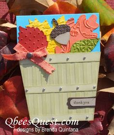 This Bushel Basket Leaf Card is the perfect paper craft for fall. Send a greeting card that looks like a beautiful bushel basket!