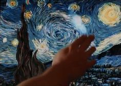 Greek multimedia artist Petros Vrellis would like you to be able to touch a Van Gogh without getting tackled by a security guard.