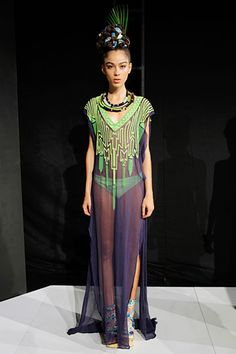 I like this of course with something under hiding my drawers...lol  Mara Hoffman Spring 2012