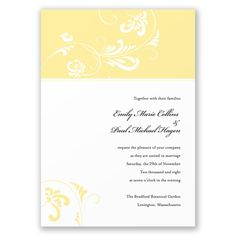 Always & Forever - Canary Invitation