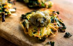 These delicious cumin-scented potato pancakes are laced with leeks and crispy kale, adding a putatively healthy touch to the standard fried latke You can serve them with Greek yogurt, sour cream or crème fraîche But a chutney or yogurt blended with cilantro, mint and garlic would make for excellent eating as well