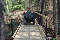 NEW HOW TO BUILD A WOODEN ATV BRIDGE | Built | Land in