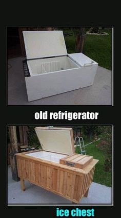 Make An Old Fridge Into An Ice Chest | Decorative Soul