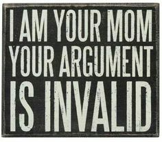 What argument?! LOL!