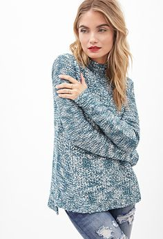 Textured Marled Knit Sweater | Forever 21 - 2055879994