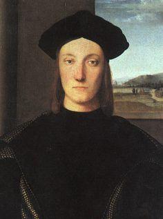 Retrato de Guidobaldo da Montefeltro, duque de Urbino, óleo sobre painel por Raphael (Raffaello Sanzio Da Urbino) (1483-1520, Italy)