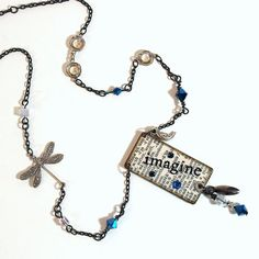 Artsy & Fun Imagine Dictionary Pendant Necklace